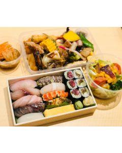 Matsu Sushi moriawase + Irodori Okazu set