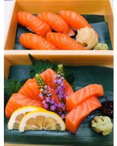 Salmon sashimi (5pcs) or Salmon Sushi (5 Pcs)